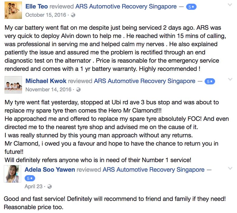 24HR Car Battery Replacement Service Singapore FB Review 1